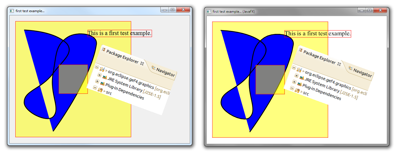 Experiments with GEF4 Graphics and JavaFX